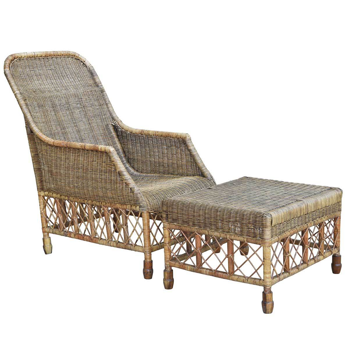 Plantation Lattice Ottoman