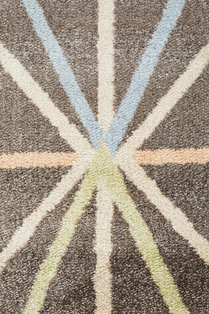 City Trance Modern Taupe Rug
