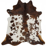 Exquisite Natural Cow Hide Black Tricolor