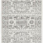 Chrome Addison Silver Runner Rug