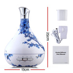 Aroma Diffuser Aromatherapy LED Night Light Blue And White Porcelain Pattern 300ml