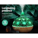 Diffuser 3D LED Night Light, Purifier 400ml Remote Control