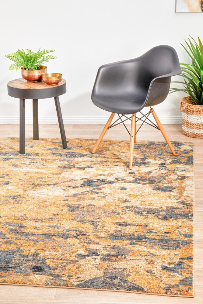 Dreamscape Tribute Modern Rust Rug