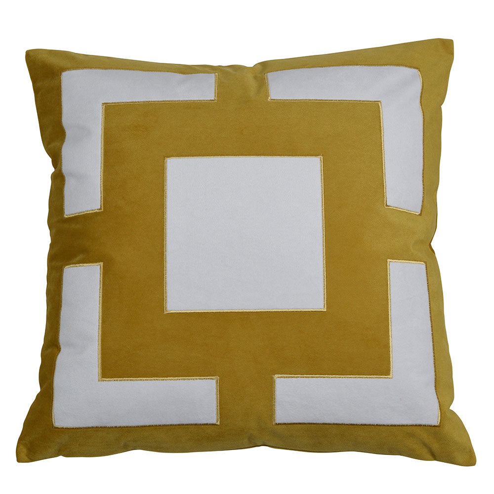 bold gold cushion cover