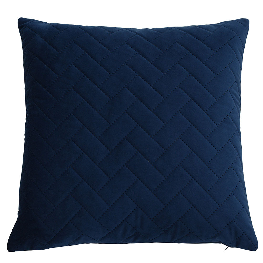 brick navy cushion cover