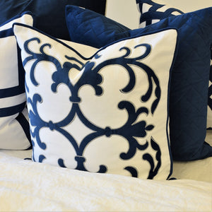 lennox navy cushion display