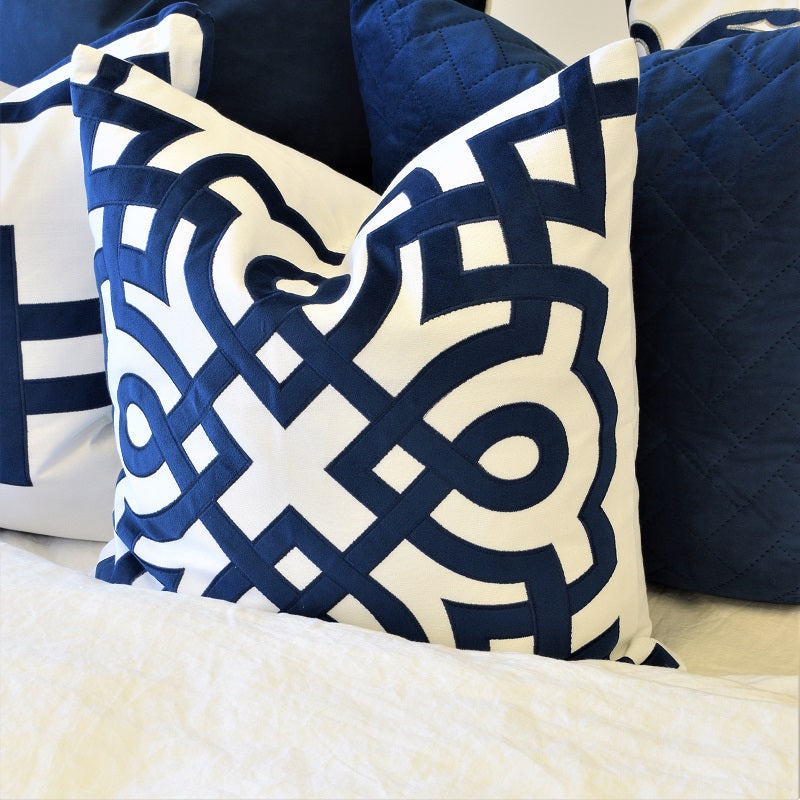 byron Navy cushion display