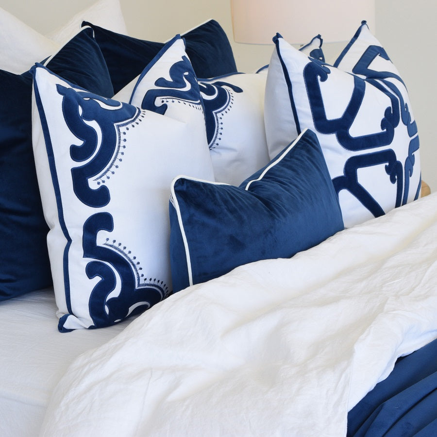 bronte navy cushion display