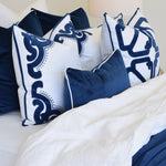 Bronte navy Rectangle cushion display