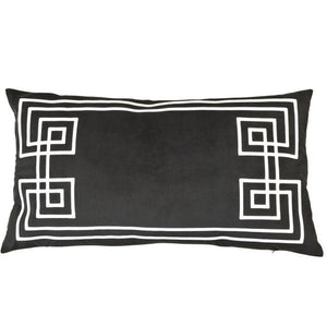 southport black rectangle cushion cover