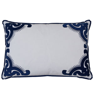 Bronte navy Rectangle cushion cover
