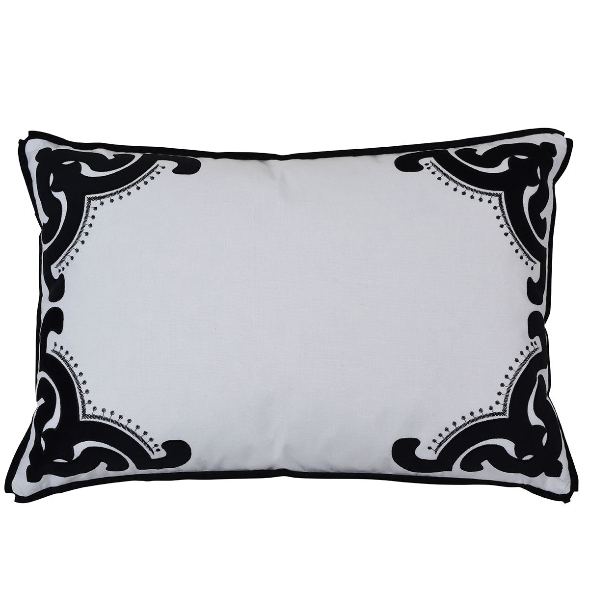 Bronte Black Rectangle cushion cover