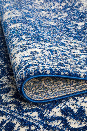 Evoke Oasis Navy Transitional Rug