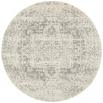 Evoke Dream White Silver Transitional Round Rug