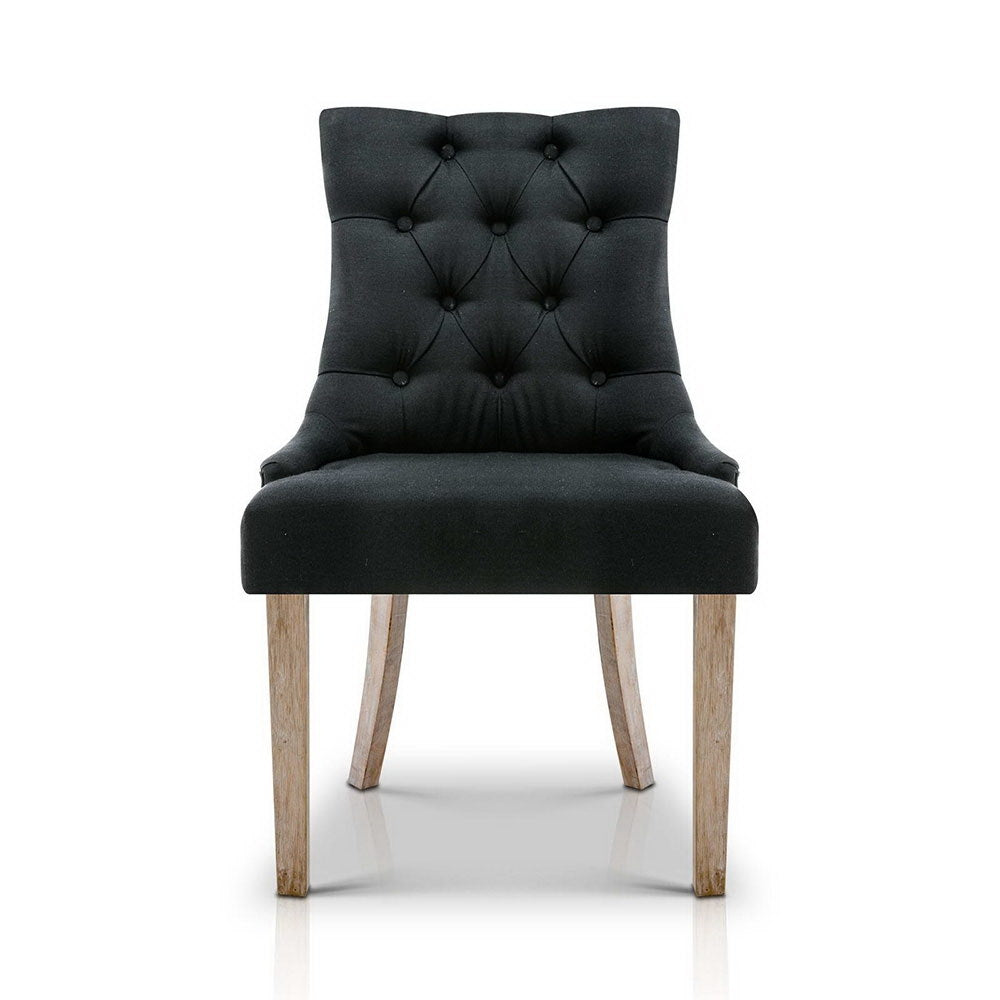 French Provincial Dining Chair Black x1