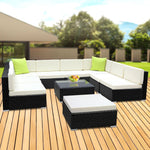 10PC Outdoor Wicker Sofa Set