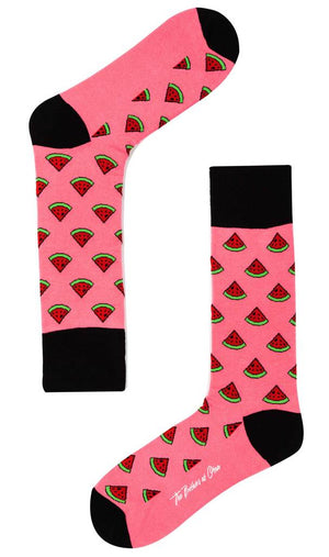 pink watermelon socks