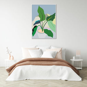 plant love green leaves framed canvas