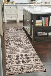 Heirloom Urban Tribe Designer Ivory Runner Rug