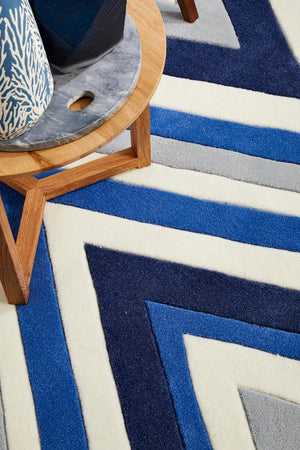 Gold Collection 635 Navy Rug