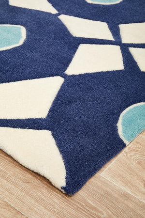 Gold Collection 643 Navy Rug