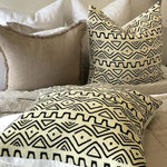 zulu black and white cushion cover display