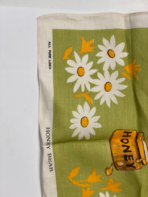 Vintage Pure Linen Tea Towel
