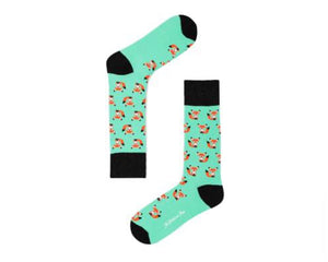 mint green fox socks