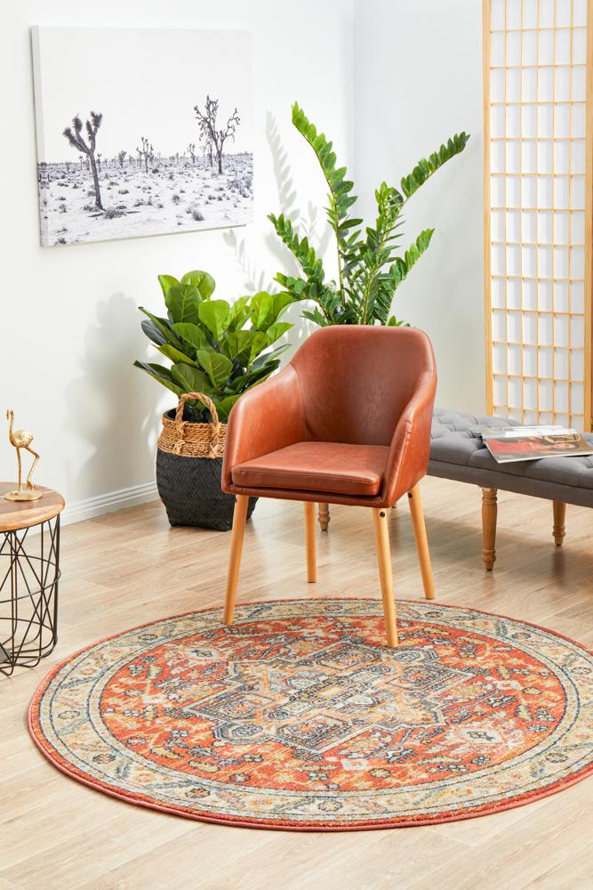 Legacy 850 Terracotta Round Rug