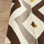Nomad Pure Wool Flatweave 18 Yellow Runner