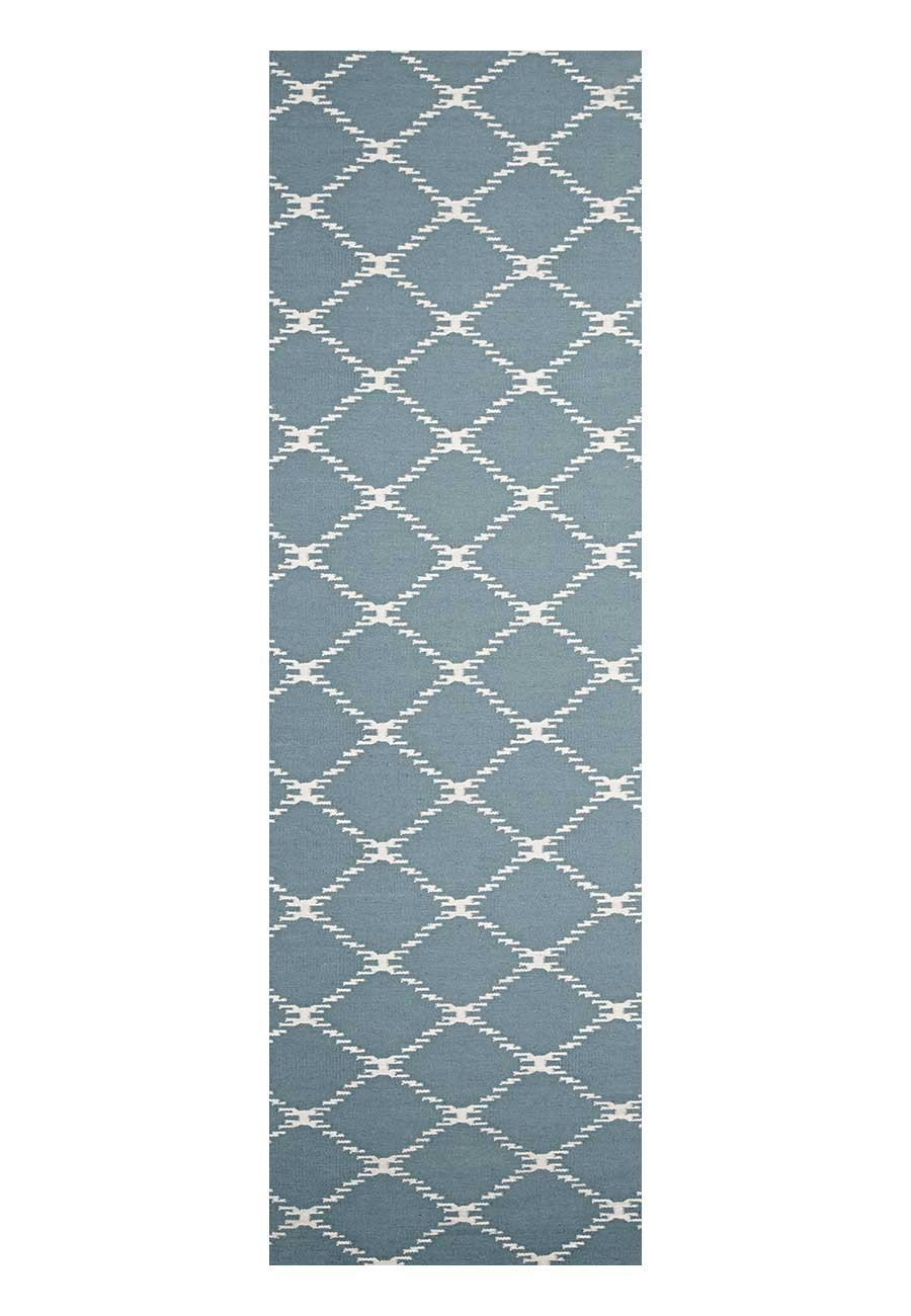 Nomad Pure Wool Flatweave 19 Blue Runner