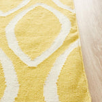 Nomad Pure Wool Flatweave 20 Yellow Rug