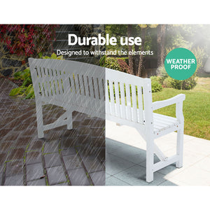 Wooden Garden Bench Chair 3 Seater