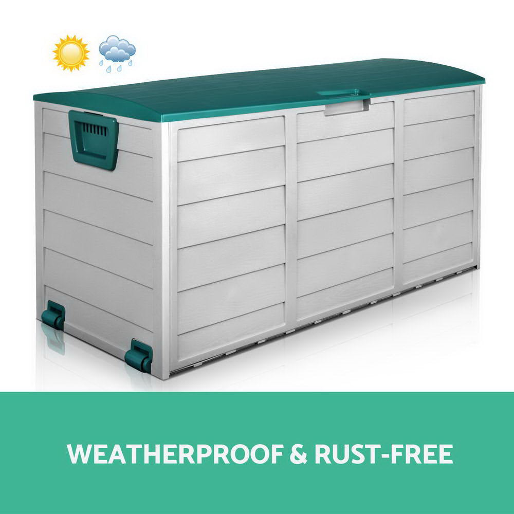 Giantz 290L Outdoor Storage Box - Green