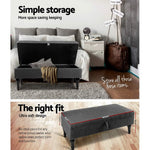 Fabric Storage Ottoman - Grey