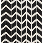 Fantasy Firefly Black Chevron Dreams Handmade Wool Rug