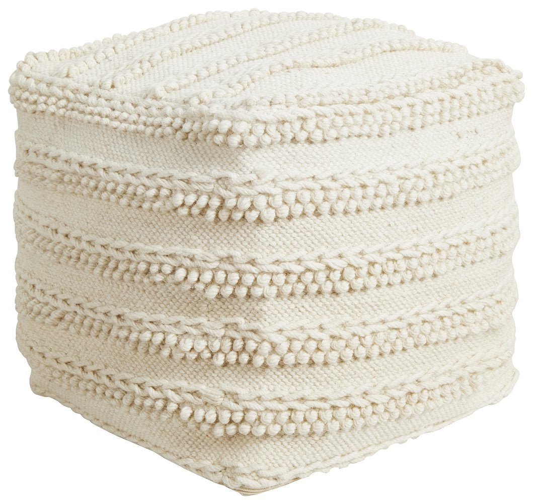 Rug Culture Home 506 Ivory Ottoman