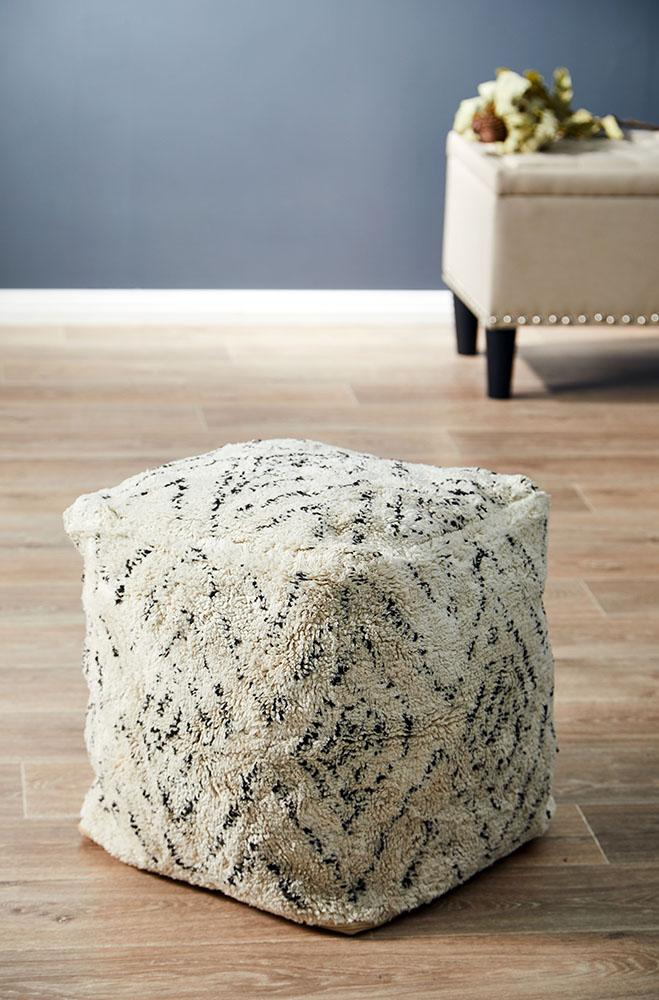 Rug Culture Home 514 Ivory Ottoman