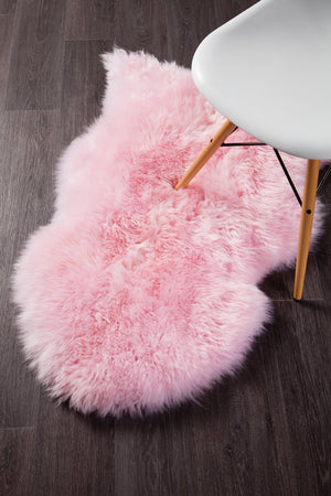 Natural New Zealand Sheep Skin - Blush Pink