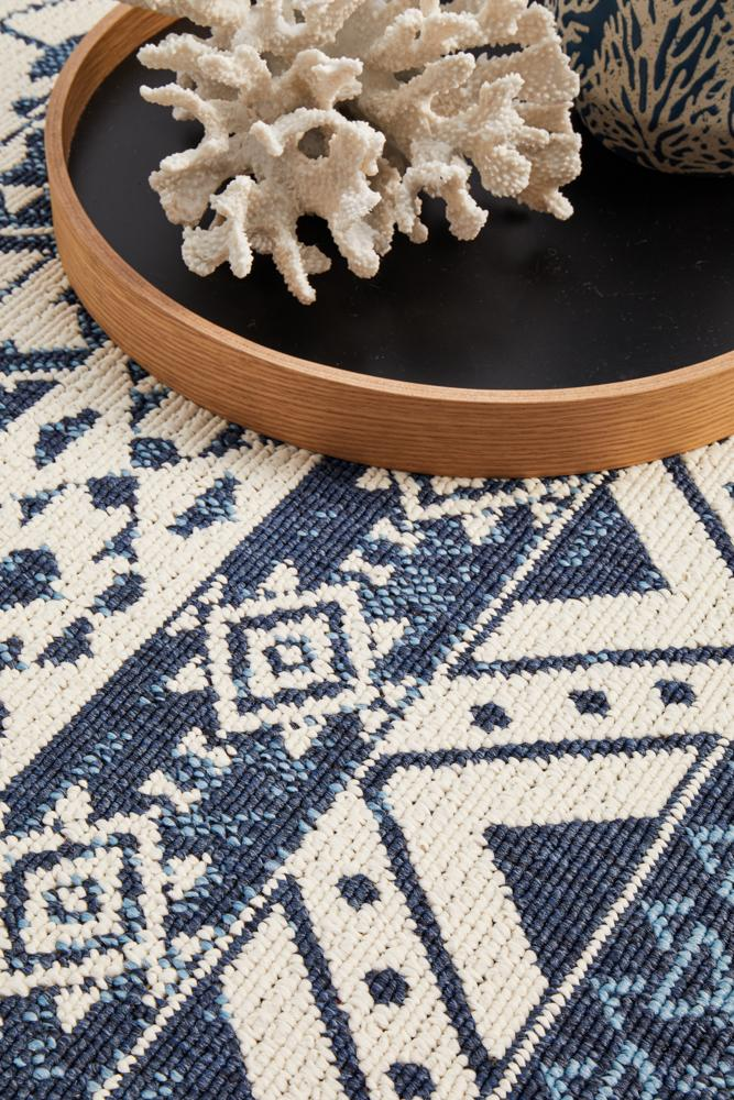 Seaside 3333 White Blue Rug