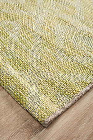 Rug Culture Terrace 5504 Green Runner Rug