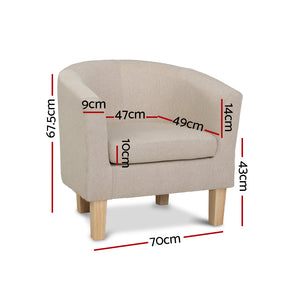 Beige Tub Chair