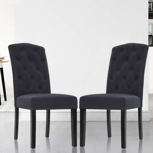 2x Dining Chairs French Provincial Grey