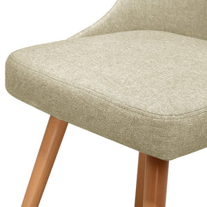 Beige Retro Dining Chair x 2