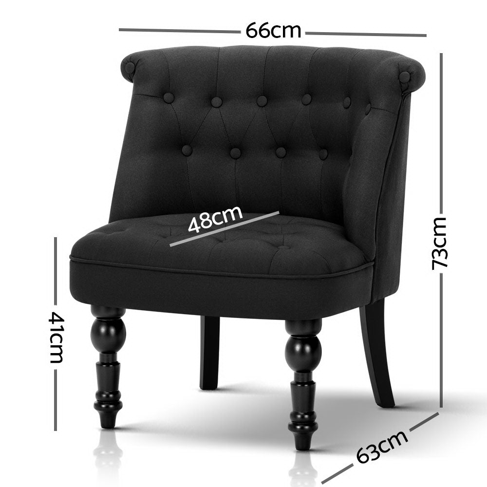 Occasional Accent Chair - Black