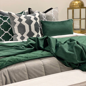 Velvet Throw Green