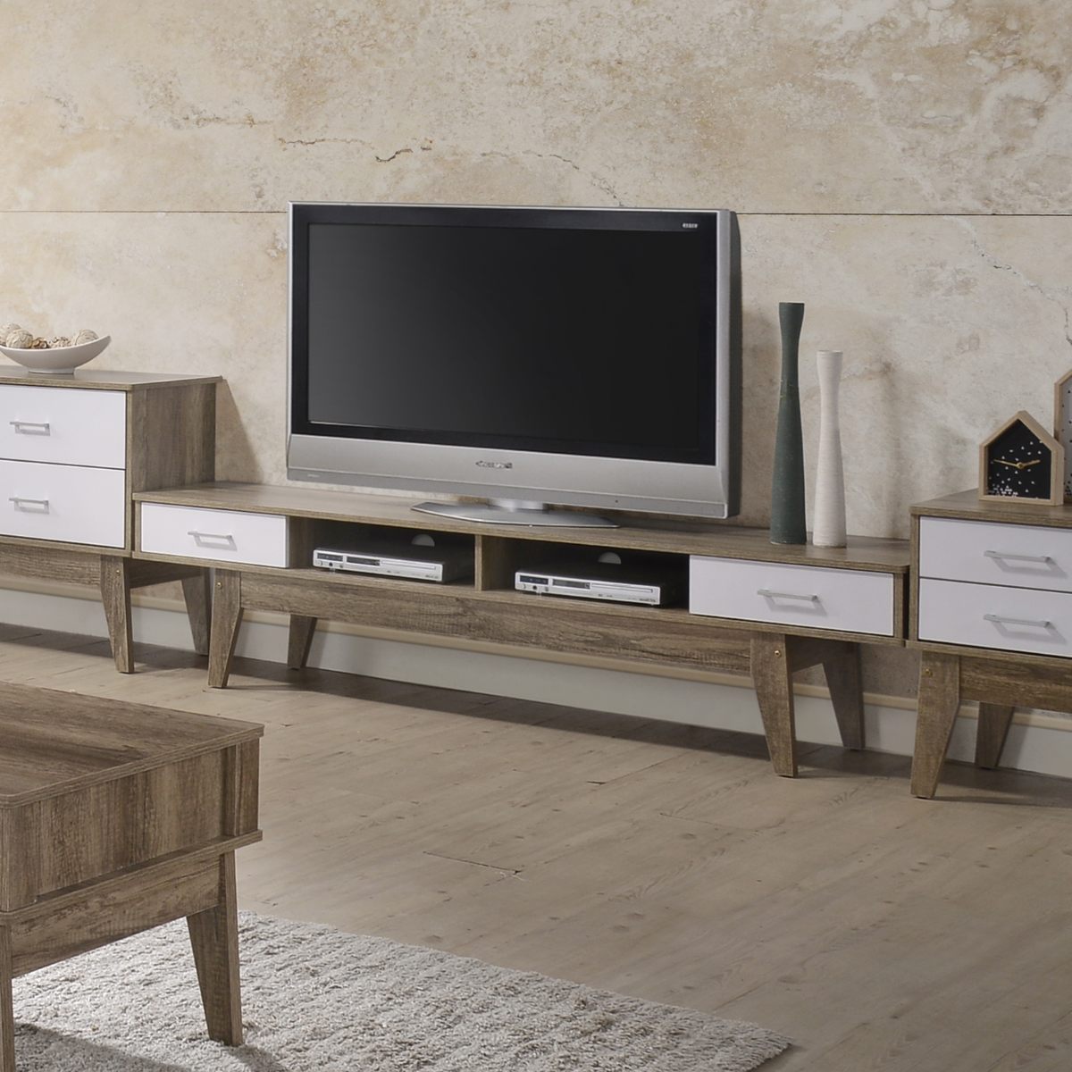 TV Entertainment Unit Oak