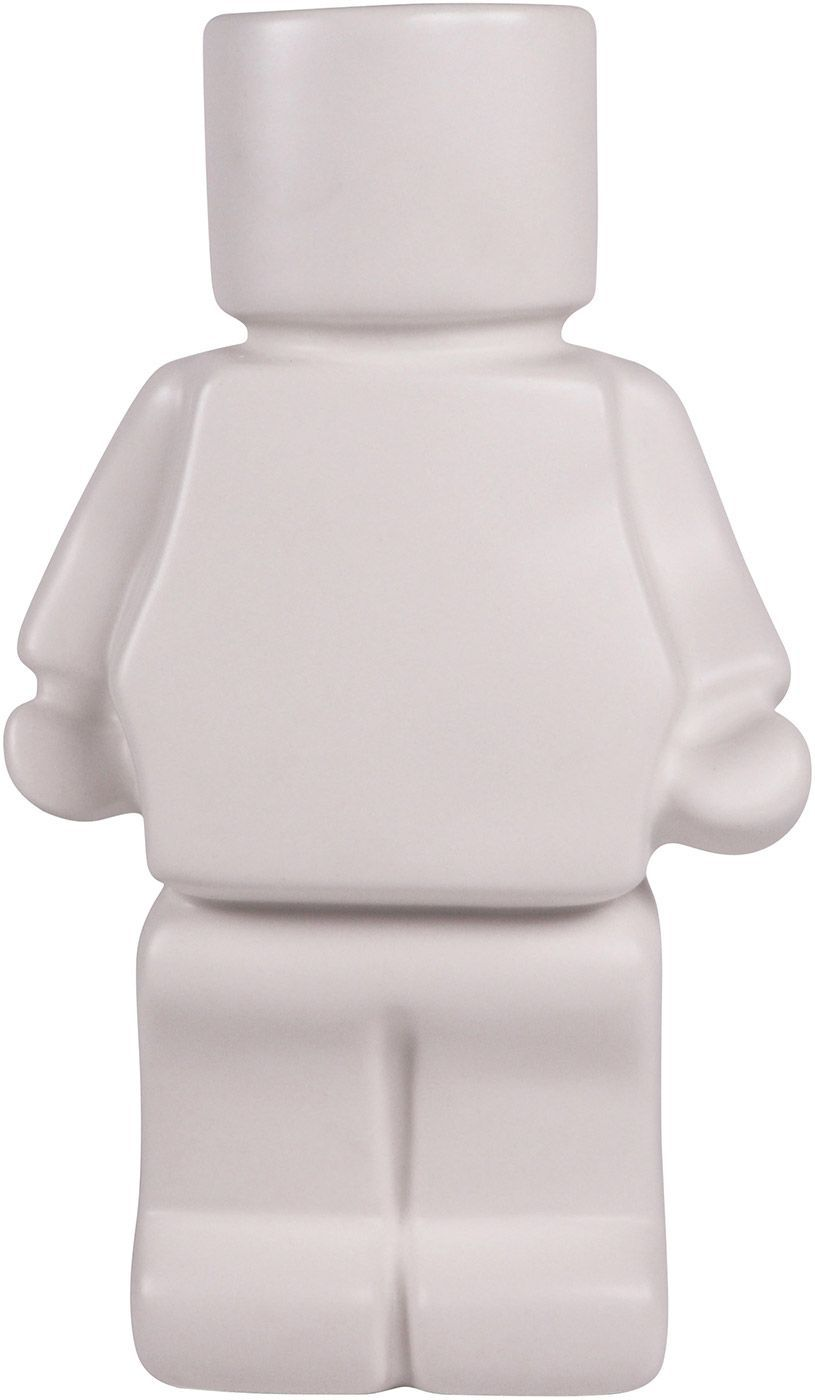 Block Man Planter White 22cm