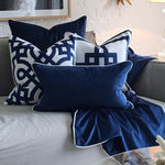Velvet Throw Navy