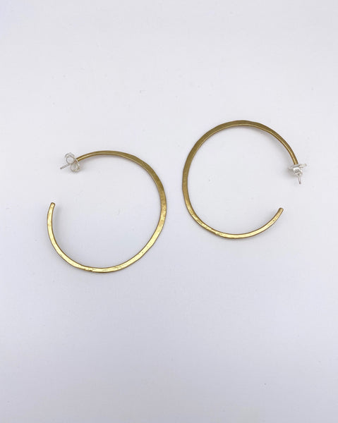 Hammered C Earring